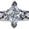 1.00 ct. Marquise Cut Bridal Set Ring, G, SI2 #4