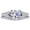 1.21 ct. Round Cut Bridal Set Ring, G, I1 #1