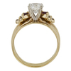 1.13 ct. Round Cut Bridal Set Ring, H, I2 #4