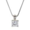 1.34 ct. Princess Cut Pendant Necklace, H-I, I1 #1