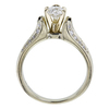 0.52 ct. Heart Cut Bridal Set Ring, E, IF #1