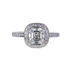 1.51 ct. Square Emerald Cut Halo Ring, I, VS2 #3