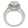 1.54 ct. Round Cut Bridal Set Ring, H, I1 #4
