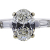 1.01 ct. Oval Cut 3 Stone Ring #2