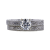 0.83 ct. Round Cut Bridal Set Ring, G, SI2 #4