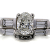 1.02 ct. Oval Cut 3 Stone Ring #1