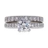 1.0 ct. Round Cut Bridal Set Ring, G, SI1 #3