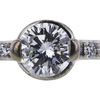 1.07 ct. Round Cut Bridal Set Ring, H, I1 #4