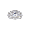 0.85 ct. Round Cut Bridal Set Ring, D, SI2 #3