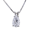 2.02 ct. Pear Cut Pendant Necklace, E, I1 #3