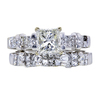 1.00 ct. Princess Cut Bridal Set Ring, I, VS1 #3