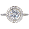 1.0 ct. Round Cut Halo Ring, H-I, SI2 #1