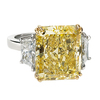 10.01 ct. Radiant Cut 3 Stone Ring #1