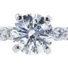 1.02 ct. Round Cut Bridal Set Ring, H, I1 #4