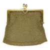 18K Yellow Gold Mesh Coin Purse w/ 2 Blue Sapphire Cabochons #1