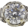 1.76 ct. Round Cut Bridal Set Ring, F, I1 #4