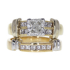 1.22 ct. Radiant Cut Bridal Set Ring, H, SI2 #3