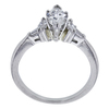 0.70 ct. Marquise Cut 3 Stone Ring, F-G, VS1 #3