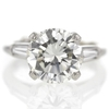 3.58 ct. Round Cut 3 Stone Ring #1