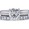 1.10 ct. Round Cut Bridal Set Ring, G, SI1 #3