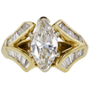 2.01 ct. Marquise Cut Solitaire Ring, J, I1 #3