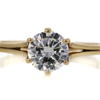 0.97 ct. Round Cut Solitaire Ring #1