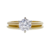 1.21 ct. Round Cut Bridal Set Ring, H, I1 #2