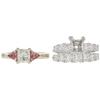 0.71 ct. Princess Cut Bridal Set Ring, F-G, VS1 #3