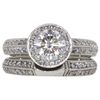 1.05 ct. Round Cut Bridal Set Ring, I, I1 #3