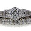 1.36 ct. Round Cut Bridal Set Ring #1