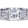 1.24 ct. Princess Cut Bridal Set Ring #1