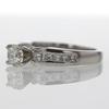0.74 ct. Round Cut Bridal Set Ring #1