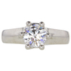 1.17 ct. Round Cut Solitaire Ring, G, VS1 #3