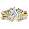 0.96 ct. Trilliant Cut Bridal Set Ring, E, VS2 #3