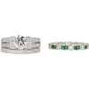 0.89 ct. Round Cut Bridal Set Ring, E, VS2 #1