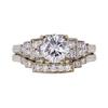 1.57 ct. Round Cut Bridal Set Ring, E, I2 #3