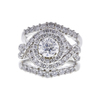 1.0 ct. Round Modified Brilliant Cut Bridal Set Ring, F, I1 #3