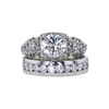 1.21 ct. Round Cut Bridal Set Ring, G, SI1 #3