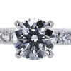 1.01 ct. Round Cut Bridal Set Ring, F, VS1 #4