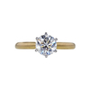 1.10 ct. Round Cut Solitaire Ring, H, SI2 #3