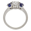 0.71 ct. Round Cut 3 Stone Ring, F, VS1 #4