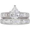 1.08 ct. Pear Cut Bridal Set Ring, F-G, I1 #1