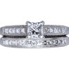 0.69 ct. Princess Cut Bridal Set Ring, D, VS2 #3