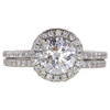 1.01 ct. Round Cut Halo Ring, D, SI2 #3