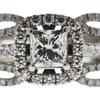 1.01 ct. Princess Cut Bridal Set Ring, J, SI1 #4