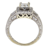 0.65 ct. Princess Cut Bridal Set Ring, F-G, SI2 #3