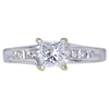 0.95 ct. Princess Cut Solitaire Ring, E, VS1 #1