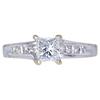 0.95 ct. Princess Cut Solitaire Ring, E, VS1 #1