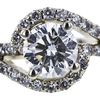 1.01 ct. Round Cut Halo Ring, H, VS2 #4