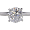 3.01 ct. Round Cut Solitaire Ring, K, I1 #3